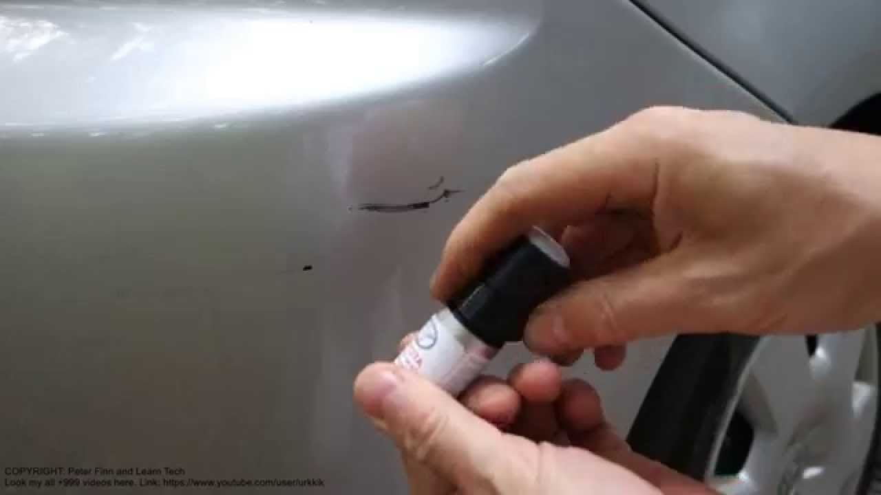 How to use Toyota car touch up paint set and fix scratch in paint Automobile - How To Guide