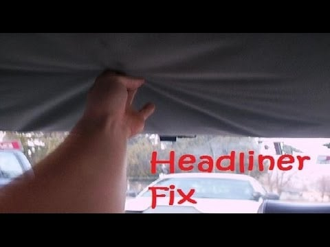 how to fix car s headliner with carpet tape tips made easy cheap no glue or spray. Black Bedroom Furniture Sets. Home Design Ideas