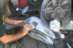 Quickie Bondo fix for Old Dented up Motorcycle Tanks