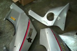 Motorcycle fairing repair-two section epoxy and fiberglass